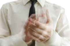 Blurred hands clapping Stock Image