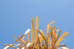 Blurred  of Hay and blue sky. Blurred and Soft focus of Hay and blue sky Royalty Free Stock Photography