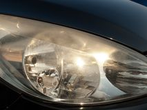 Blurred headlights Royalty Free Stock Photo