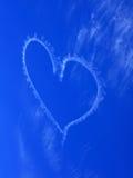 Heart blur in rich blue sky Stock Image