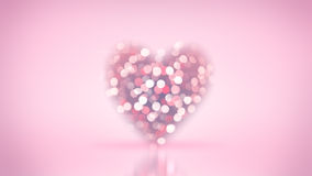 Blurred heart shape and bokeh lights Royalty Free Stock Image
