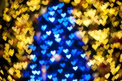 Blurred of heart shape christmas light Royalty Free Stock Image