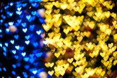Blurred of heart shape christmas light Royalty Free Stock Images