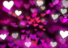 Blurred Hearts. An illustration of hearts with blurred effect Royalty Free Stock Photo