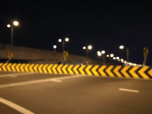Blurred Highway Curve Lane Stock Images