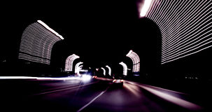 Blurred highway at night Royalty Free Stock Image