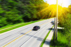 Blurred highway scene Stock Photo