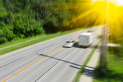 Blurred highway scene Royalty Free Stock Image