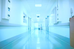 Blurred hospital interior as a medical background Royalty Free Stock Images