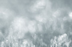 Blurred ice noked silvery background Stock Photography