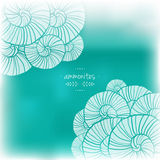 Blurred illustration with abstact patterns. Vector illustration. Sea theme Stock Images
