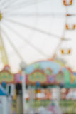 Blurred image of an amusement park, background. Royalty Free Stock Photography