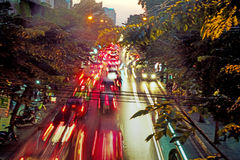 Blurred image of a asian traffic jam Royalty Free Stock Photography