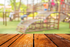 blurred image for background of children's playground Stock Image