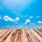 Blurred image of blue-sky background for put your product Royalty Free Stock Photography