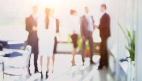 Blurred image of business people standing in office.business bac Stock Photography