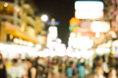 Blurred image of busy night life in the city. Royalty Free Stock Photo