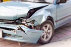 Blurred image of a car an accident,focus headlight Stock Photos