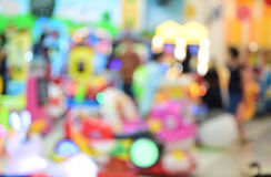 Blurred image Children's playground at public park. Royalty Free Stock Photos