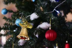 Blurred image :  Christmas tree and Christmas decorations Stock Photo