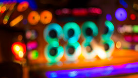 Blurred image of colorful festive lights that can be used as bac Royalty Free Stock Photos