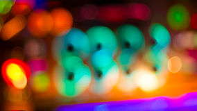 Blurred image of colorful festive lights that can be used as bac Stock Photo