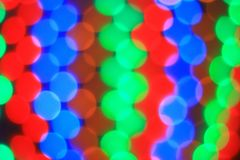 Blurred image of colorful lights.Christmas background. holiday concept stock image