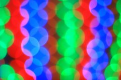 Blurred image of colorful lights.Christmas background Stock Photography