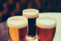 Blurred image of cool drinks in cafe with bokeh Royalty Free Stock Image