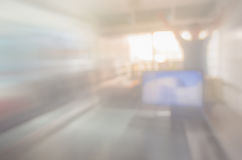 Blurred image of counter service at hotel for background usage. Royalty Free Stock Images