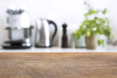 Blurred image of modern kitchen interior for background Royalty Free Stock Photography