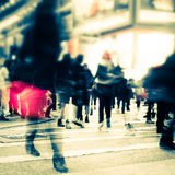 Blurred image of night city street. Hong Kong Royalty Free Stock Image