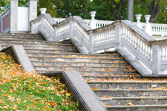 Blurred image of outdoor old style staircase Stock Photos