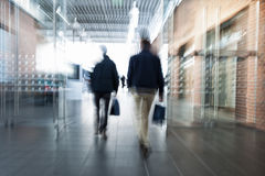 Blurred image of people in shopping center. Intentional blurred image of people in shopping center Stock Photography