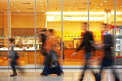 Blurred Image of People in Shopping Center. Intentional Blurred Image of People in Shopping Center Royalty Free Stock Photography