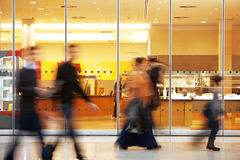 Blurred Image of People in Shopping Center. Motion Blurred Image of People in Shopping Center stock image