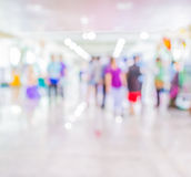 Blurred image of people walking at day market , blur background Royalty Free Stock Images