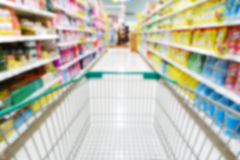 Blurred image of shopping cart Royalty Free Stock Photo