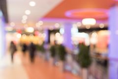 Blurred image of shopping mall stock photos