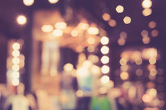 Blurred image of shopping mall with bokeh Stock Image