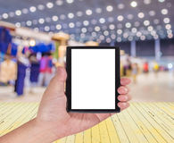Blurred image of shopping mall and people for background usage. Blurred image of shopping mall and people for background usage Royalty Free Stock Image