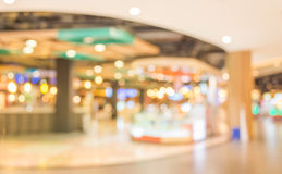 Blurred image of shopping mall and restaurant. Stock Photo