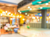 Blurred image of shopping mall and restaurant. Stock Photography