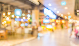Blurred image of shopping mall and restaurant. Royalty Free Stock Photos