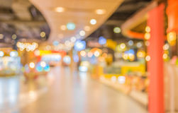 Blurred image of shopping mall and restaurant. Royalty Free Stock Image