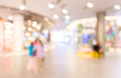 Blurred image of shopping mall and restaurant. Royalty Free Stock Photography