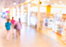 Blurred image of shopping mall and restaurant. Stock Images