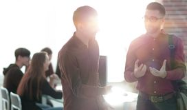 Blurred image of a staff in the office royalty free stock photography