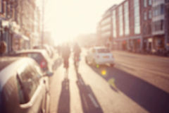 Blurred image a street. Stock Photos