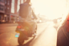 Blurred image a street. Royalty Free Stock Images